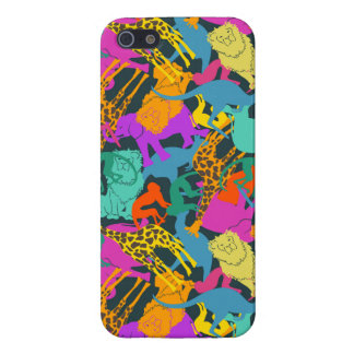 Motif animal de silhouettes coque iPhone 5