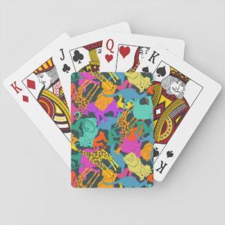 Motif animal de silhouettes jeu de cartes
