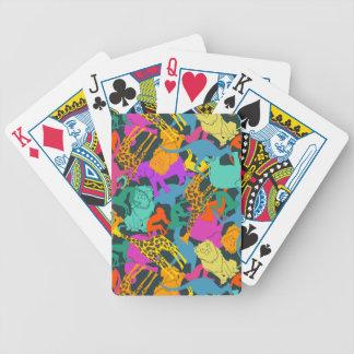 Motif animal de silhouettes jeux de cartes