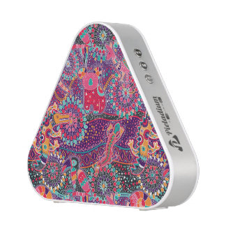 Motif animal de style ethnique haut-parleur bluetooth