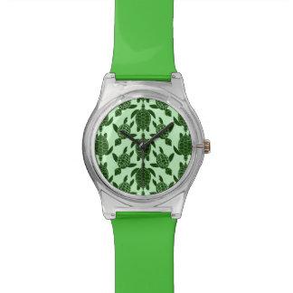 Motif animal de tortue de mer verte joli montres cadran