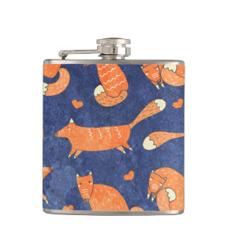 Motif animal heureux de renard flasques