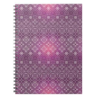 Motif antique royal de luxe floral carnet