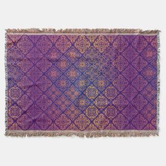 Motif antique royal de luxe floral couvertures