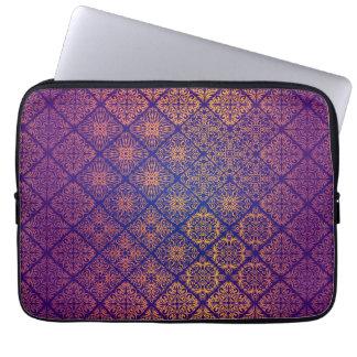Motif antique royal de luxe floral housse pour ordinateur portable