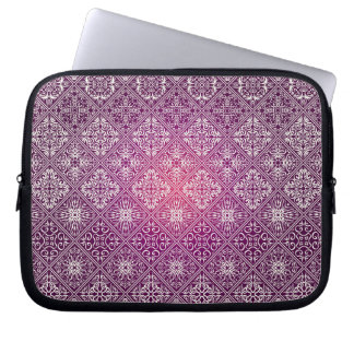 Motif antique royal de luxe floral protection pour ordinateur portable