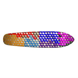 Motif artistique de matrice de points skateboard