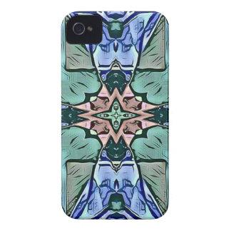 Motif artistique de pêche lilas turquoise moderne coque Case-Mate iPhone 4
