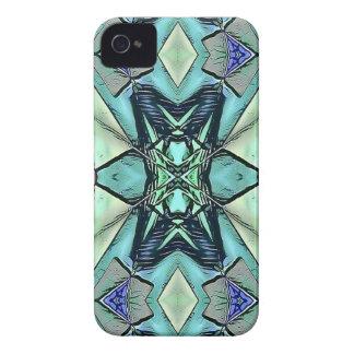Motif artistique de pêche lilas turquoise moderne coques iPhone 4 Case-Mate