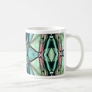 Motif artistique de pêche lilas turquoise moderne mug