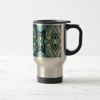 Motif artistique de pêche lilas turquoise moderne mug de voyage