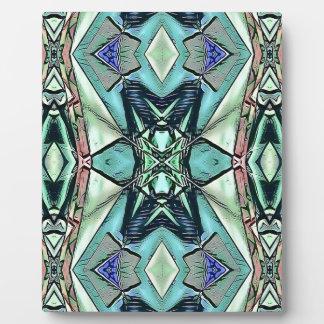 Motif artistique de pêche lilas turquoise moderne photos sur plaques
