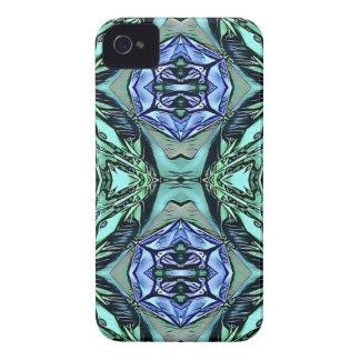 Motif artistique lilas turquoise génial coques iPhone 4
