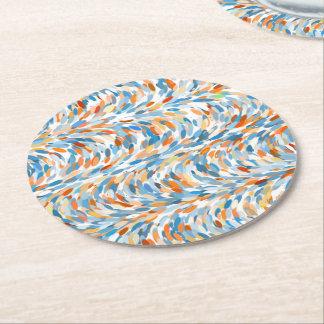 Motif Artsy d'éclaboussure de peinture de couleurs Dessous-de-verre Rond En Papier
