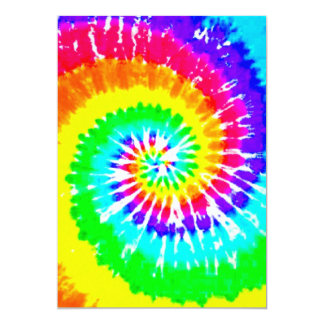 Motif au néon de couleurs d'arc-en-ciel de remous carton d'invitation  12,7 cm x 17,78 cm