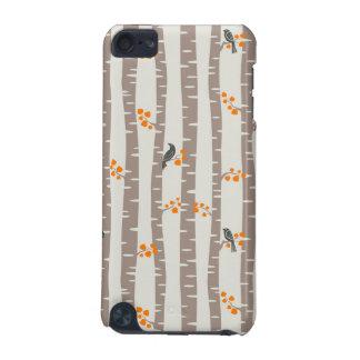 Motif avec des arbres et des oiseaux d'automne coque iPod touch 5G