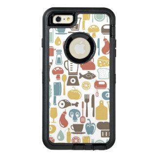 Motif avec des icônes de cuisine coque OtterBox iPhone 6 et 6s plus
