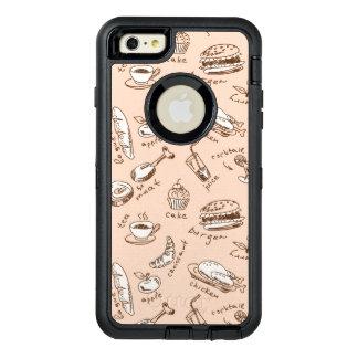 Motif avec la nourriture coque OtterBox iPhone 6 et 6s plus