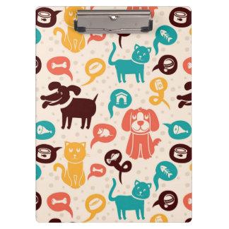 Motif avec les chats et les chiens drôles