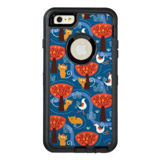 motif avec les chats et les oiseaux mignons coque OtterBox iPhone 6 et 6s plus