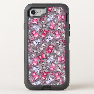motif avec les chats mignons de griffonnage de coque otterbox defender pour iPhone 7