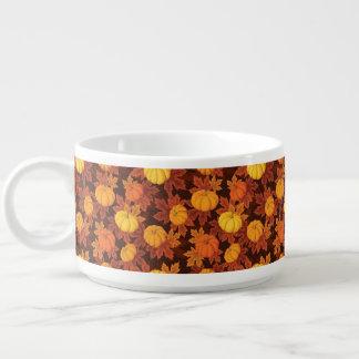 Motif avec les citrouilles et l'érable d'automne bol pour chili