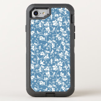 motif avec les oiseaux et l'ornement de plantes coque OtterBox defender iPhone 8/7