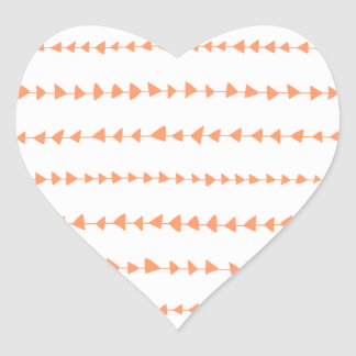 Motif aztèque blanc de flèches de pêche sticker cœur