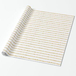 Motif aztèque blanc de flèches d'or papier cadeau