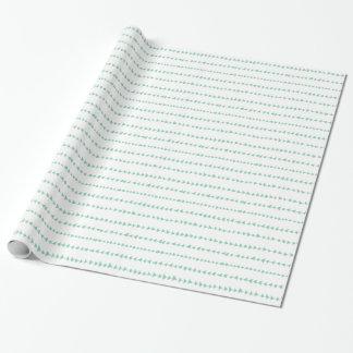 Motif aztèque blanc vert en bon état de flèches papier cadeau