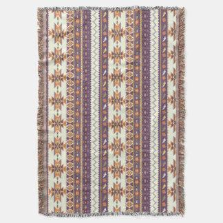 Motif aztèque coloré couvre pied de lit