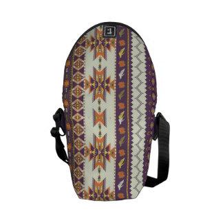 Motif aztèque coloré sacoches