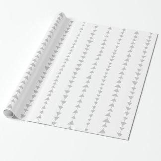 Motif aztèque de flèches de blanc gris papier cadeau