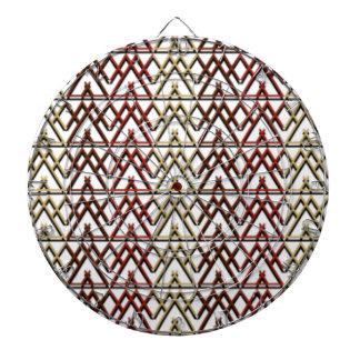 Motif aztèque de triangle jeu de fléchettes