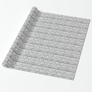 Motif aztèque géométrique abstrait 2 papier cadeau