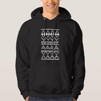 Motif aztèque pull avec capuche