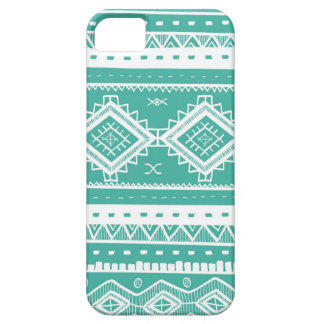 Motif aztèque tribal de dentelle (aigue-marine) coque iPhone 5