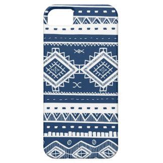 Motif aztèque tribal de dentelle (bleu marine) coque Case-Mate iPhone 5