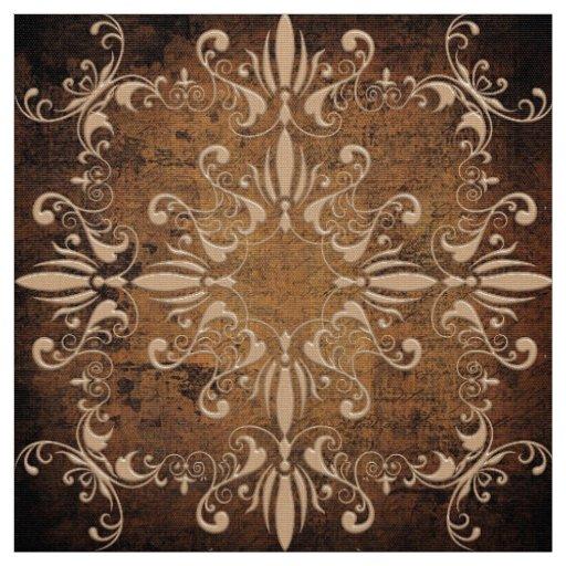 motif baroque floral sur l'arrière - plan grunge tissu