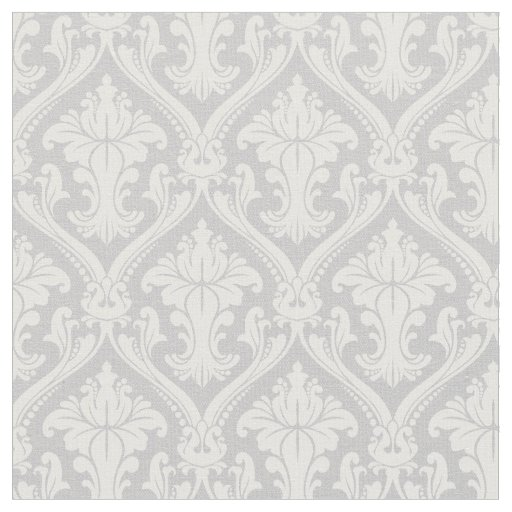 motif baroque gris la mode de damass tissu zazzle. Black Bedroom Furniture Sets. Home Design Ideas