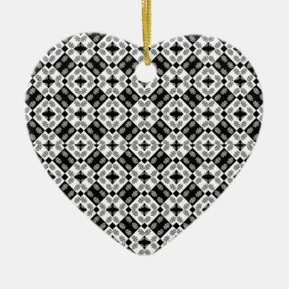 Motif baroque moderne géométrique ornement cœur en céramique