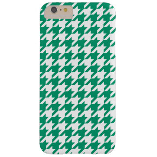Motif blanc #2 de pied-de-poule de vert de jade coque barely there iPhone 6 plus