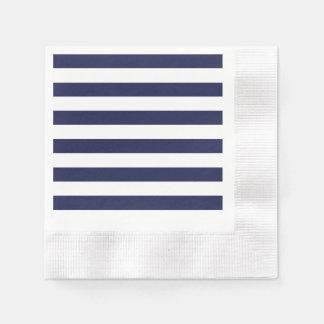 Motif blanc bleu vénitien classieux de rayure de serviette jetable