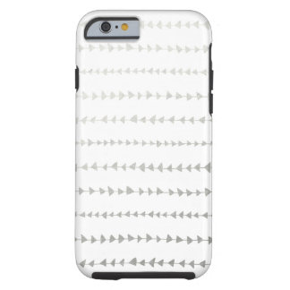 Motif blanc de flèches d'aluminium argenté de Faux Coque Tough iPhone 6