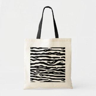 Motif blanc de rayures de noir de poster de animal sac
