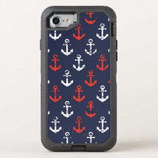 Motif blanc et bleu rouge de marine coque otterbox defender pour iPhone 7