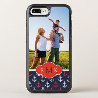 Motif blanc et bleu rouge | votre photo et coque otterbox symmetry pour iPhone 7 plus