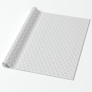 Motif blanc gris-clair #5 de Quatrefoil de Papiers Cadeaux