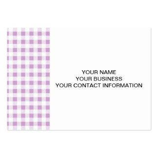 Motif blanc lilas de guingan carte de visite grand format
