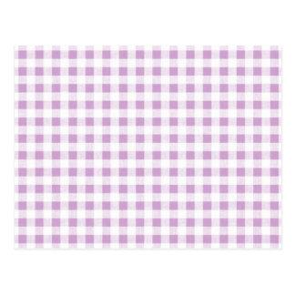 Motif blanc lilas de guingan cartes postales